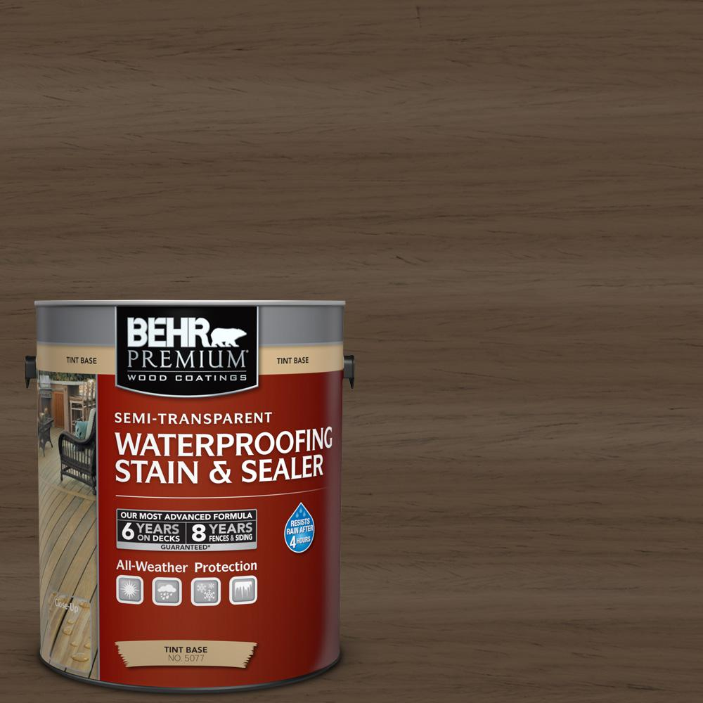 BEHR Premium 1-gal. #ST-141 Tugboat Semi-Transparent Waterproofing Stain and Sealer