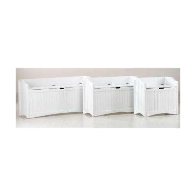 Madison White Lift Top Storage Bench