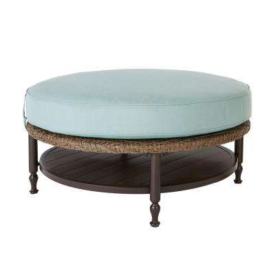 Bolingbrook Round Patio Ottoman/Coffee Table
