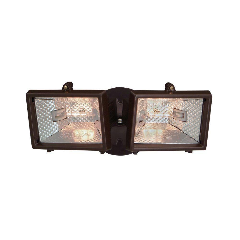 Outdoor Security Lights B Q: Designers Fountain Quartz Halogen 2-Light Distressed