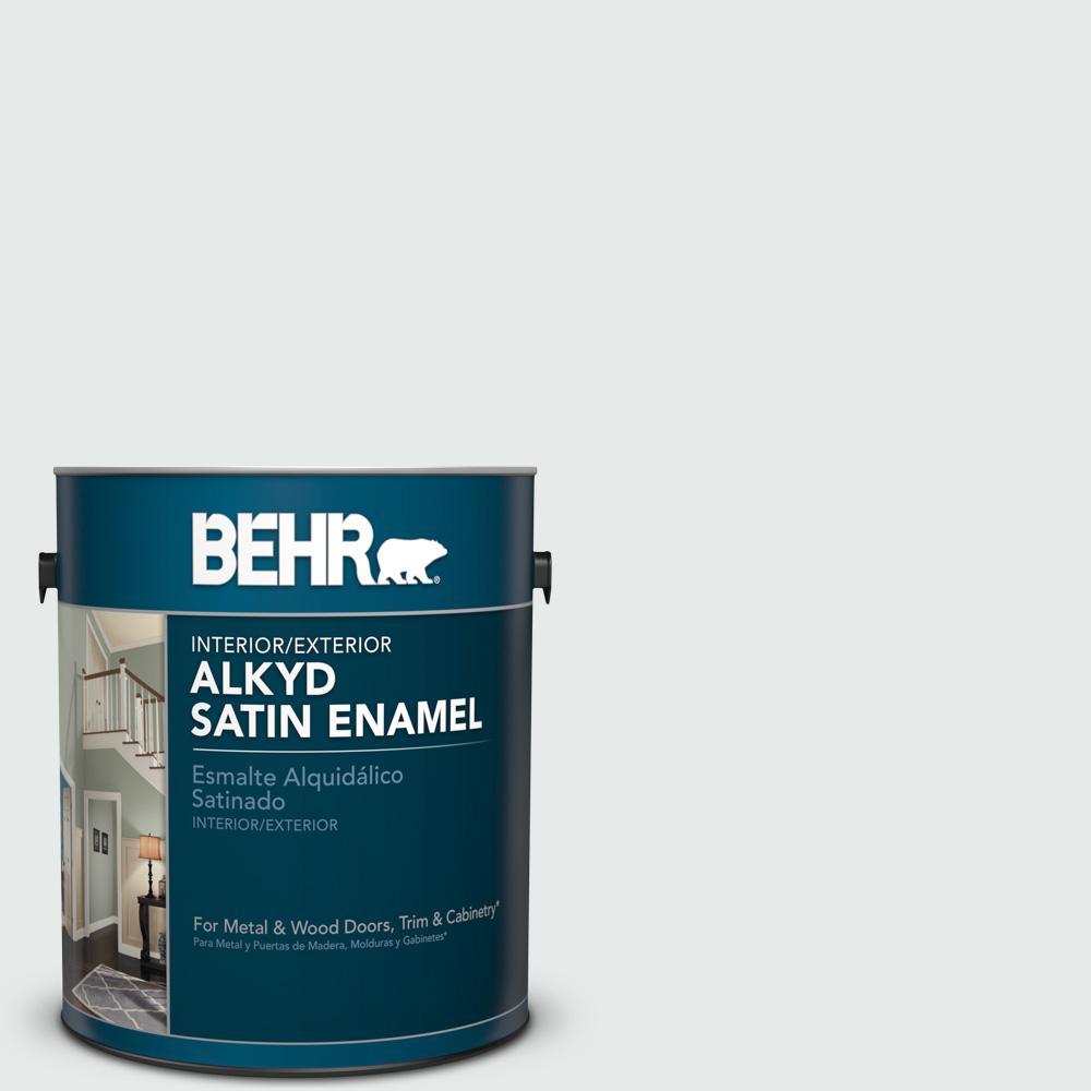 1 gal. #BL-W5 Dusting Powder Satin Enamel Alkyd Interior/Exterior Paint