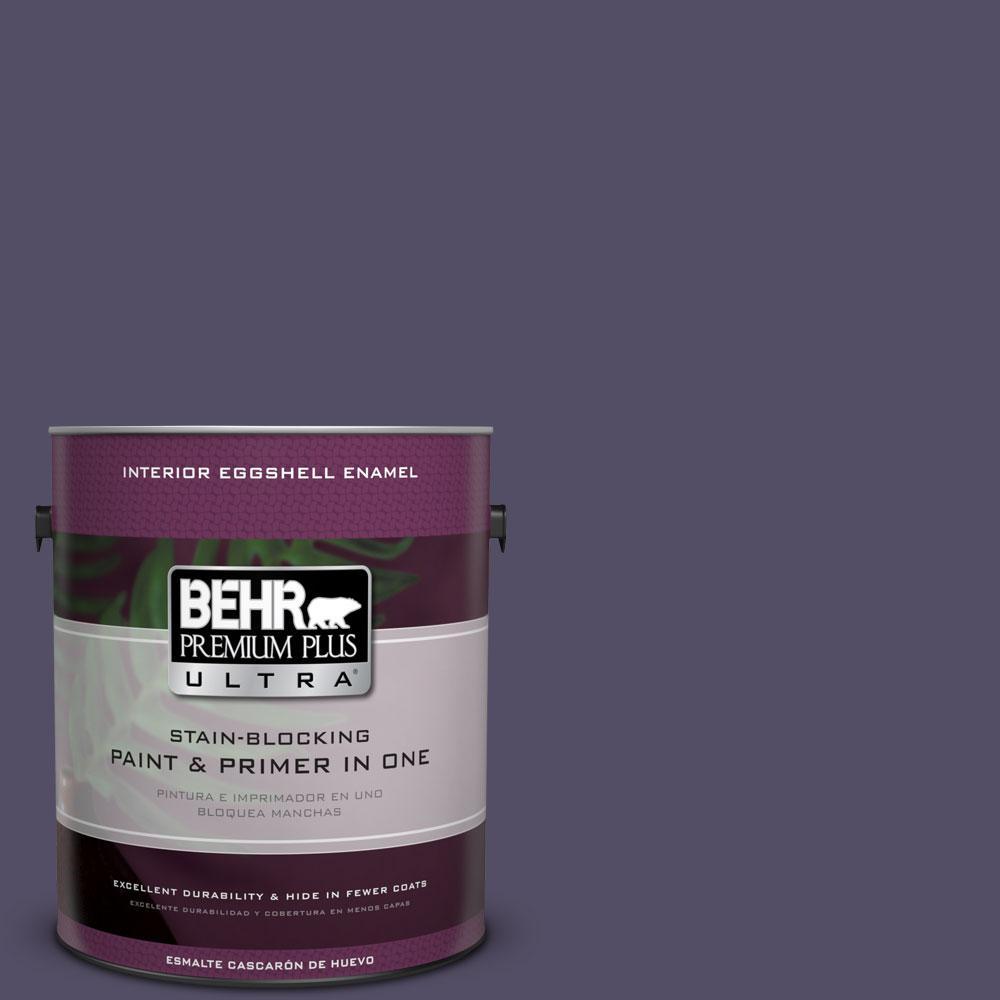 BEHR Premium Plus Ultra 1-gal. #650F-7 Violet Eclipse Eggshell Enamel Interior Paint