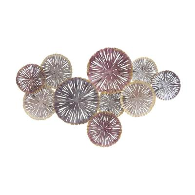 Shabby Chic Metal Colorful Circles Mixed Media Wall Art