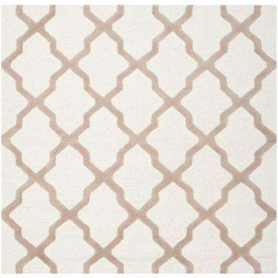 Cambridge Ivory/Beige 8 ft. x 8 ft. Square Area Rug