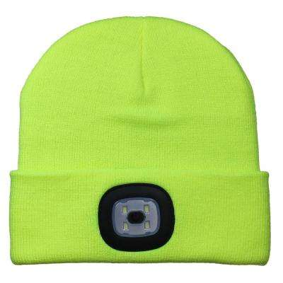 Yellow LED Light Up Beanie