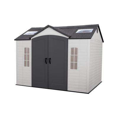 Installed 10 ft. x 8 ft. Outdoor Garden Plastic Shed