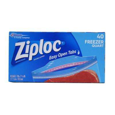 7 in. Quart Plastic Freezer Bag 40-Bag (9-Pack)