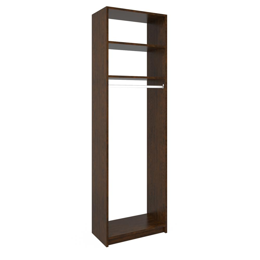 14 in. D x 24 in. W x 84 in. H Vanilla Bean Wood Medium H...