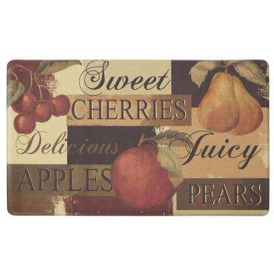 Chef Gear Scrumptious Fruit 24 in. x 36 in. PVC Printed Anti-Fatigue Kitchen Mat