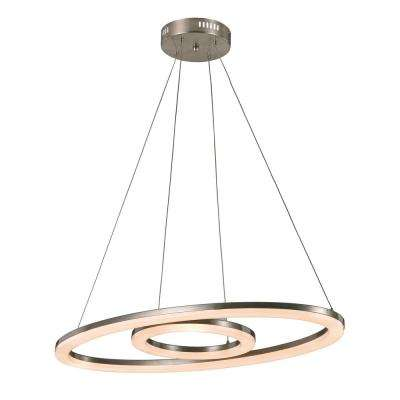 Orbital Ring 56-Watt Nickel Integrated LED Pendant