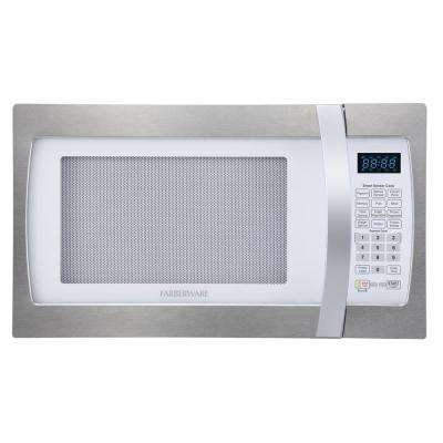 Professional 1.3 cu. ft. 1100-Watt Countertop Microwave in Stainless Steel with Smart Sensor Cooking