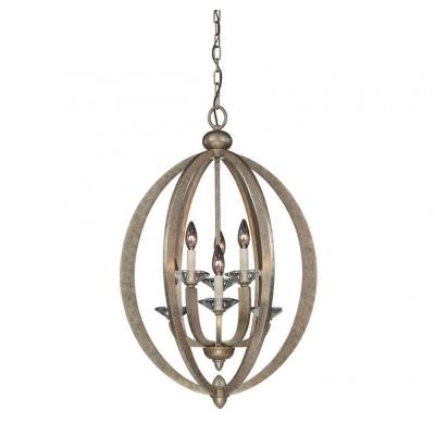 Knowsley 6-Light Gold Dust Pendant
