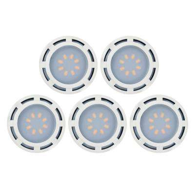 3.6 in. LED White Puck Light (5-Pack)