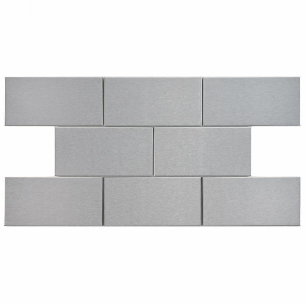 Merola tile alloy subway 3 in x 6 in stainless steel over merola tile alloy subway 3 in x 6 in stainless steel over porcelain metal wall tile 1 sq ft pack gital3ss the home depot dailygadgetfo Image collections