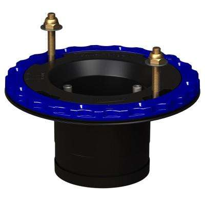 4 in. Compression Floor Protecting ABS Toilet Flange in Black
