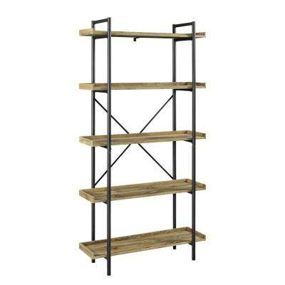 Urban 68 in. Barnwood Pipe Bookcase