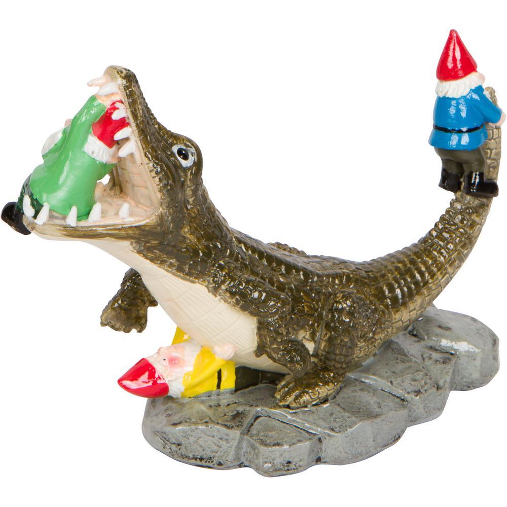 Charmant Alligator Garden Gnome Small Ornamental Statue
