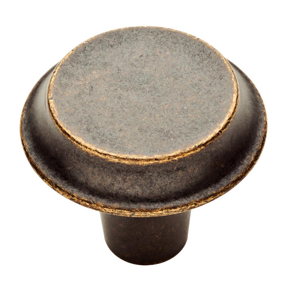 Mizuna 1-3/8 in. (35mm) Warm Chestnut Round Cabinet Knob