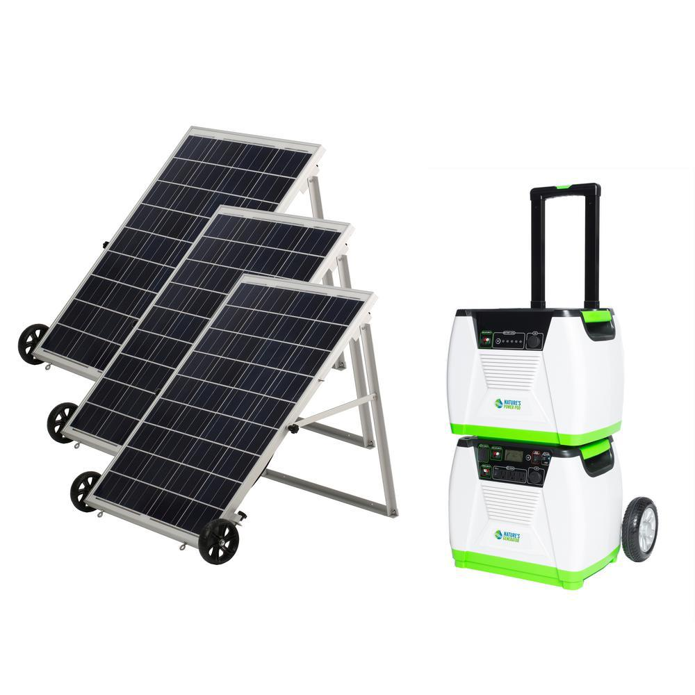 Nature S Generator 1800 Watt Solar Ed Portable With Electric Start And Supplemental
