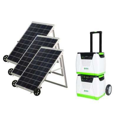1800-Watt Solar Powered Portable Generator with Electric Start and Supplemental Nature's Power Pod