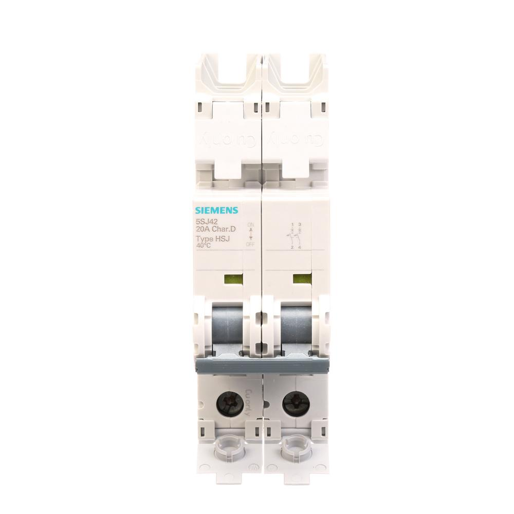 Siemens 20 Amp 2 Pole Qph 22 Ka Circuit Breaker Q220h The Home Depot 20a Afci Chfcaf120neweggcom Double Tripping Characteristic C