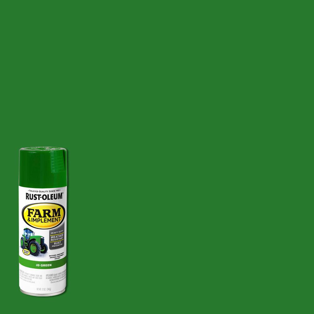 rust oleum 12 oz farm implement j d green gloss enamel spray paint 280124 the home depot rust oleum 12 oz farm implement j d green gloss enamel spray paint