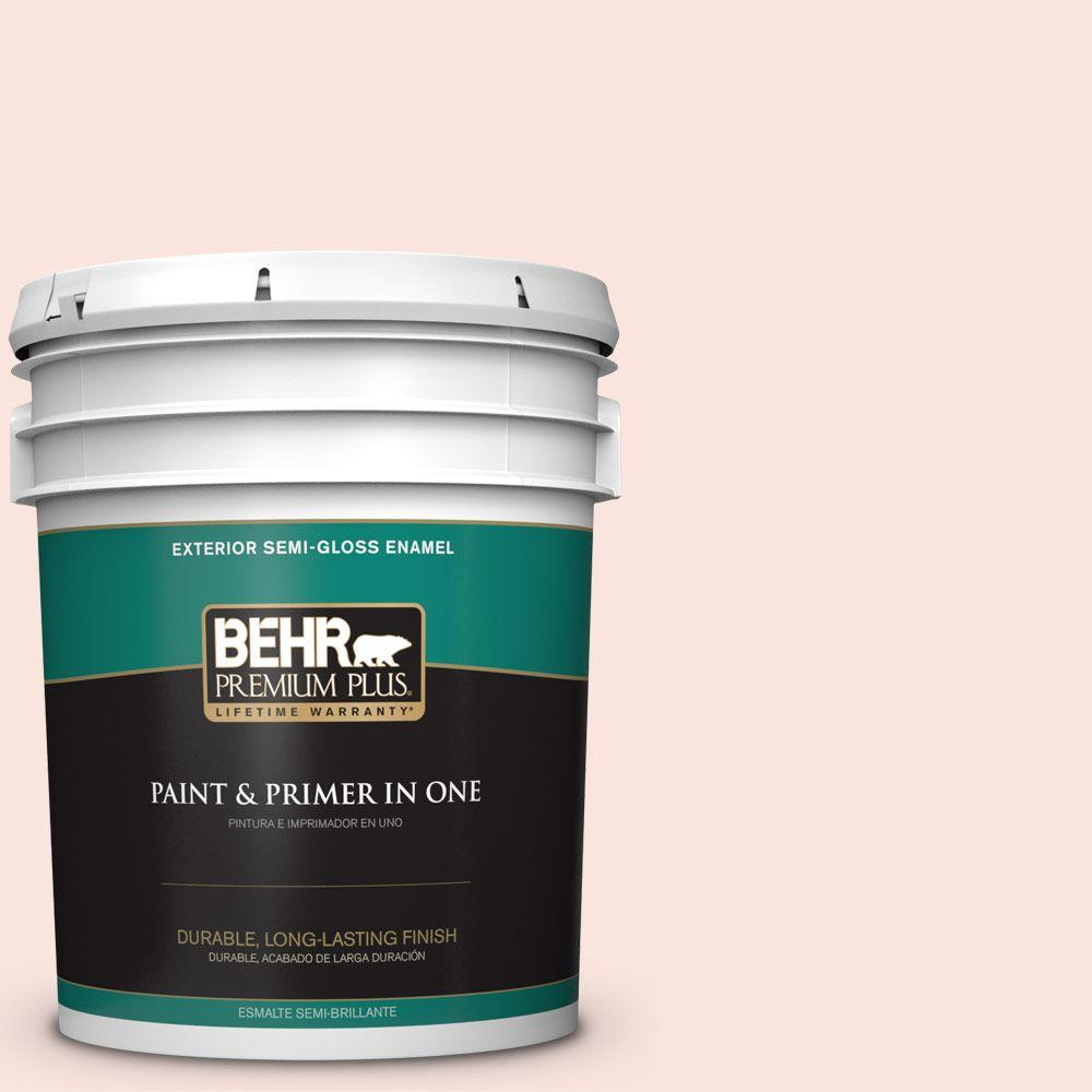 BEHR Premium Plus 5-gal. #180A-1 Cloud Pink Semi-Gloss Enamel Exterior Paint