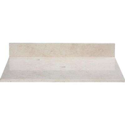 31 in. Marble Vanity Top in Galala Beige without Basin