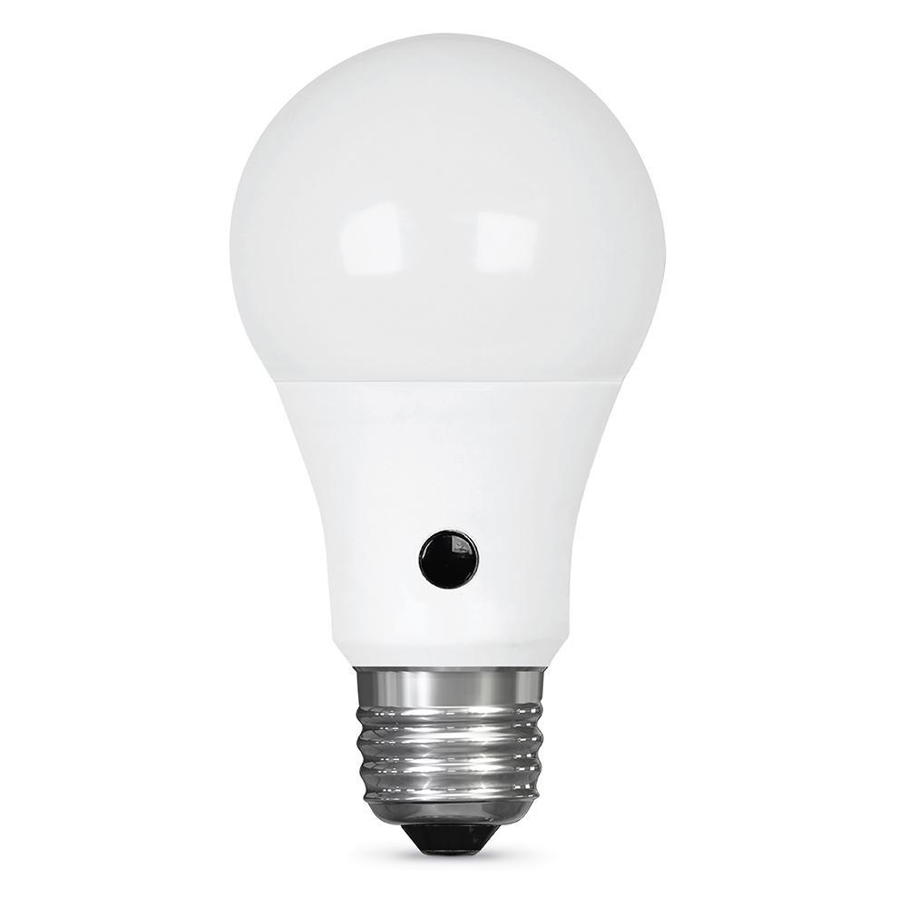 Feit Electric 60W Equivalent Soft White (2700K) A19 IntelliBulb Dusk to Dawn CEC Title 20 Compliant 90+ CRI LED Light Bulb