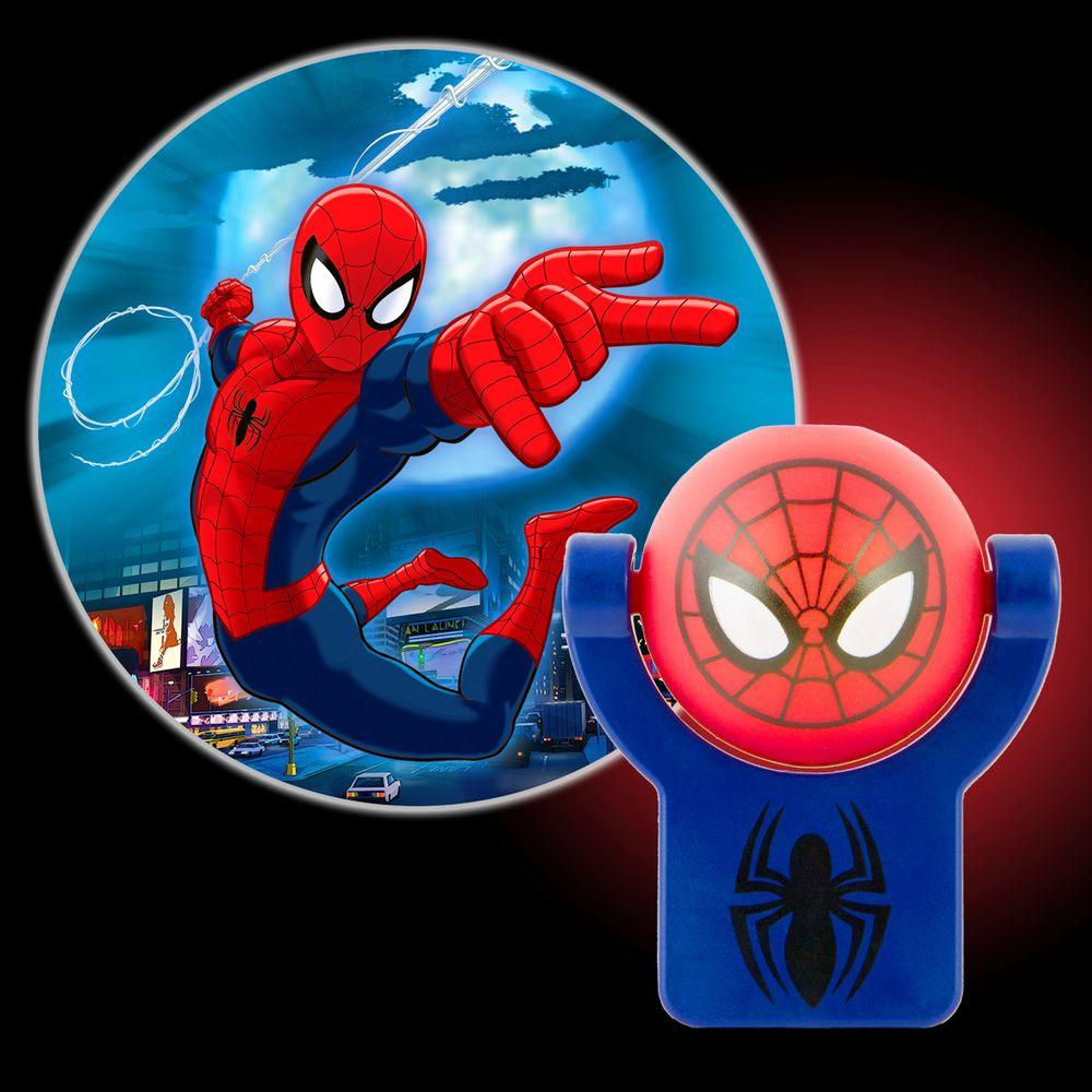 Projectables marvel spiderman automatic led night light 13341 the projectables marvel spiderman automatic led night light aloadofball Images