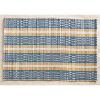 Blue Straw Placemats (Set of 4)