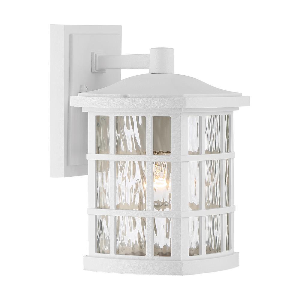Stonington 1-Light White Outdoor Wall Lantern Sconce