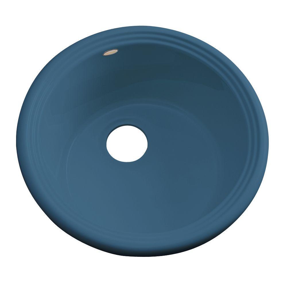 Thermocast Hampton Drop-In Acrylic 18 in. Single Basin Entertainment Sink in Rhapsody Blue