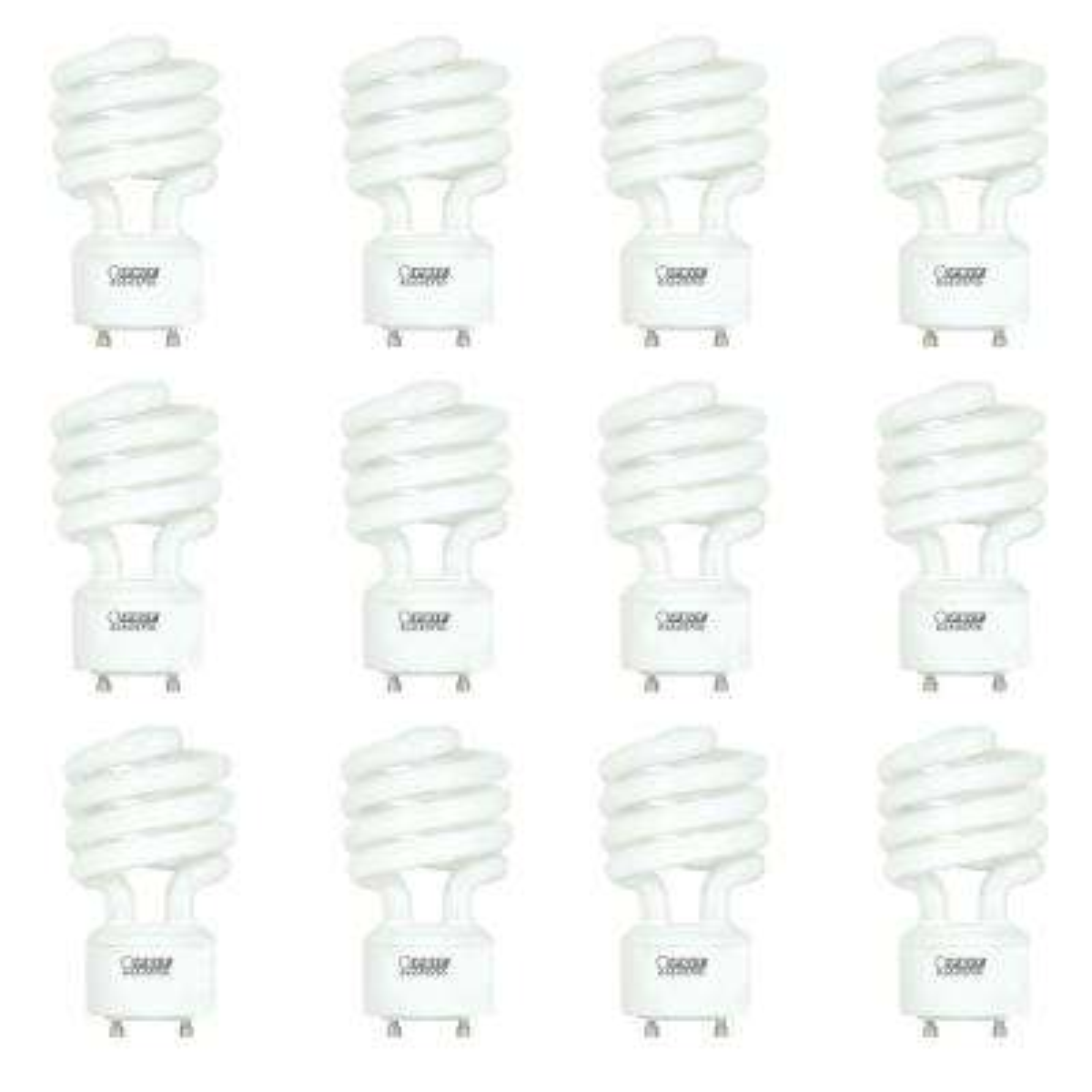 100-Watt Equivalent Soft White (2700K) GU24 Base Spiral T3 Coil CFL Light Bulb (12-Pack)