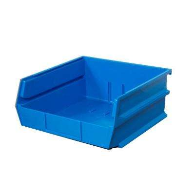 LocBin 2.13-Gal. Stacking Hanging Interlocking Polypropylene Storage Bin in Blue (6-Pack)