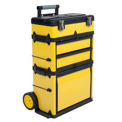 22.5 in. Rolling Stacking Portable Metal Trolley Tool Box