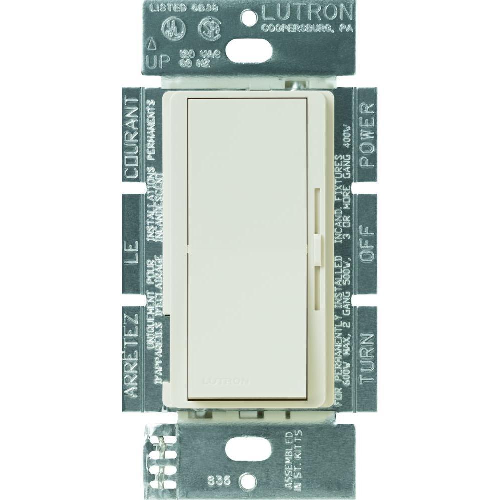 Lutron Diva 600-Watt Single-Pole Dimmer - Light Almond