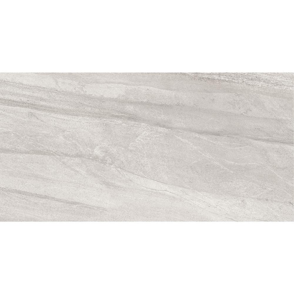 Fairfield Gray Matte 12 in. x 24 in. Glazed Porcelain Floor