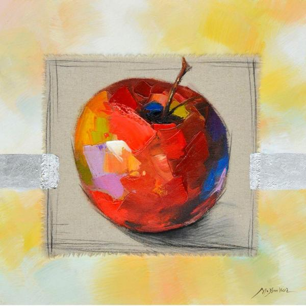 "Yosemite Home Decor 28 in. x 28 in. ""Fruit Of The Day I"" Hand Painted Contemporary Artwork"