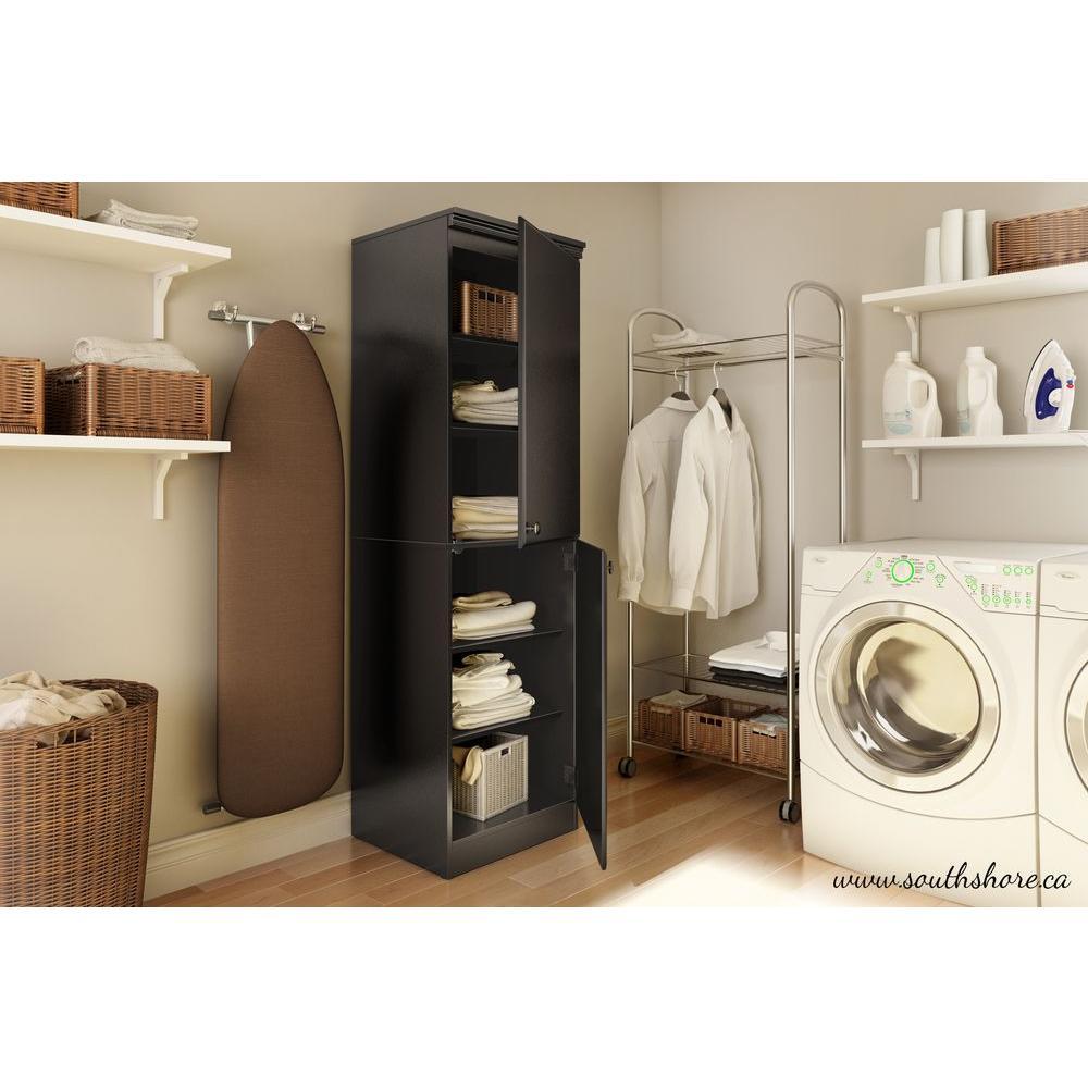 South Shore Morgan Pure Black Storage Cabinet-7270973 - The Home Depot