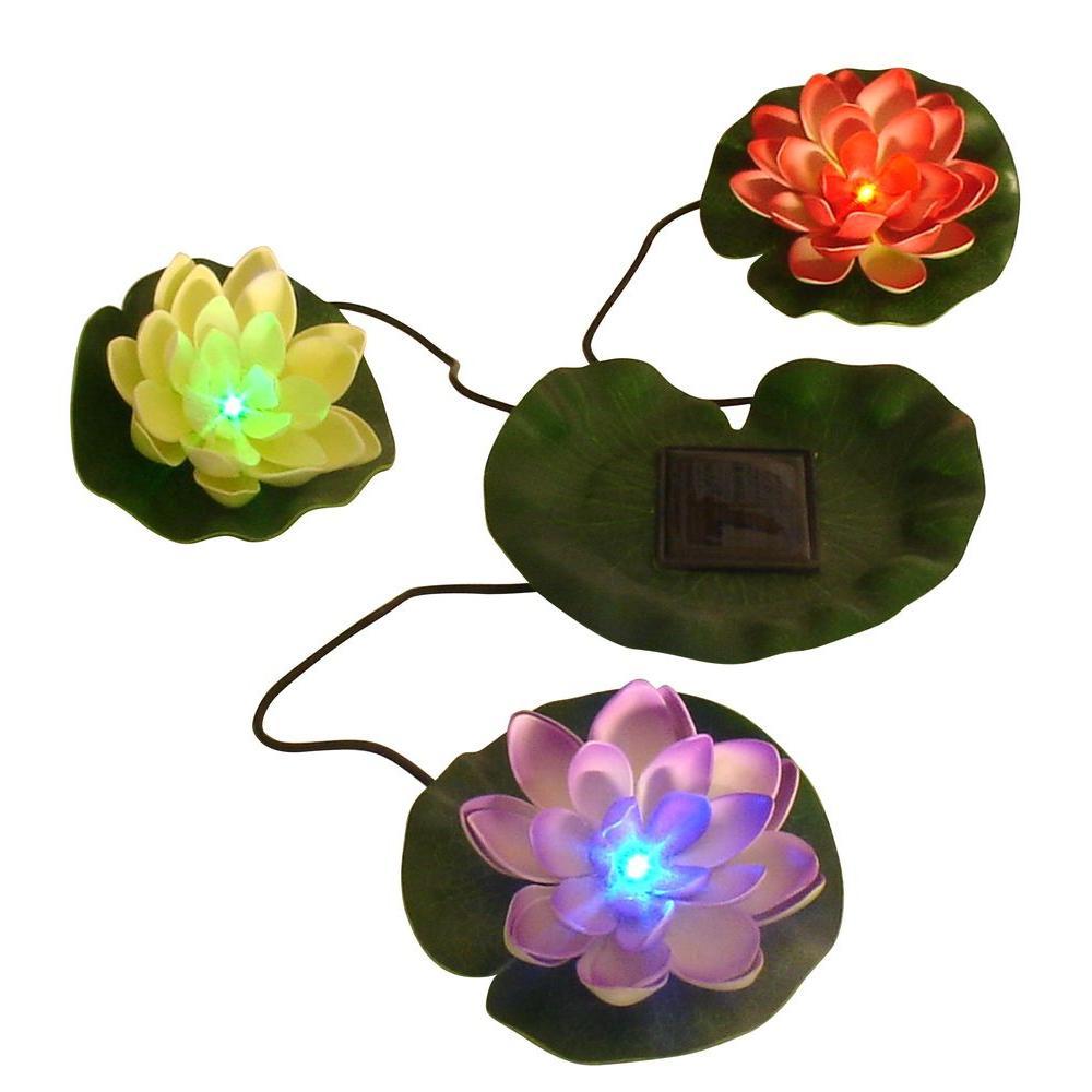 Beckett Solar Lilies Sl3 The Home Depot