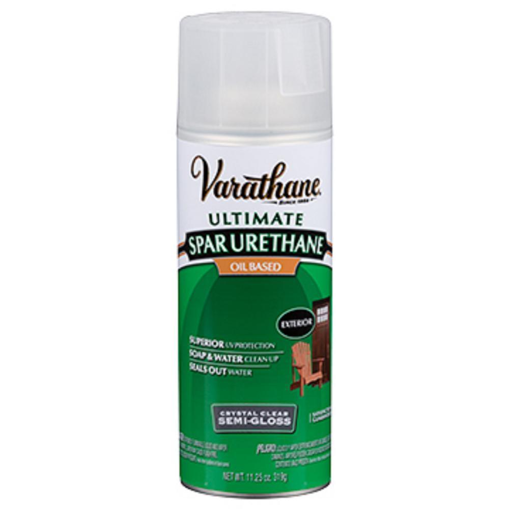 varathane 11 oz clear semi gloss oil based spar urethane. Black Bedroom Furniture Sets. Home Design Ideas