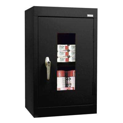 26 in. H x 16 in. W x 12 in. D Clear View Wall Cabinet in Black