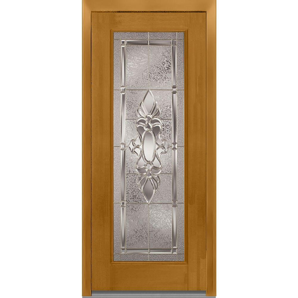 32 in. x 80 in. Heirloom Master Right-Hand Full Lite Decorative