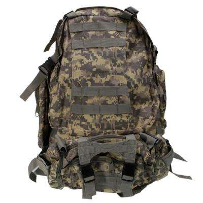 Practical Large Capacity Cloth Single Double Shoulder Tactics Military Fans 16 in. Backpack 55L ACU