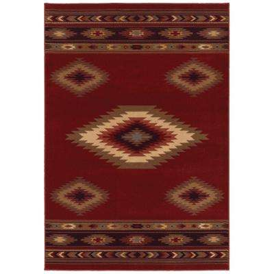 Aztec Red 4 ft. x 6 ft. Area Rug