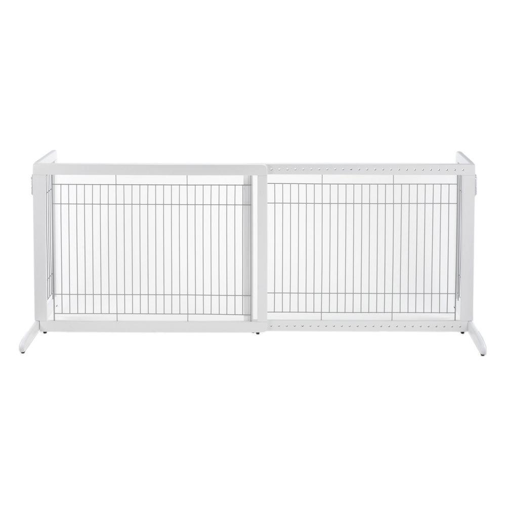 Richell HL Wood Freestanding Pet Gate in White