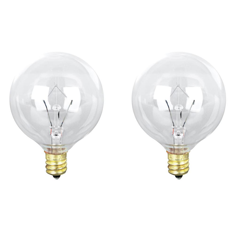 20-Watt Soft White (2700K) G12 1/2 Candelabra E12 Base Dimmable Incandescent Light Bulb (2-Pack)