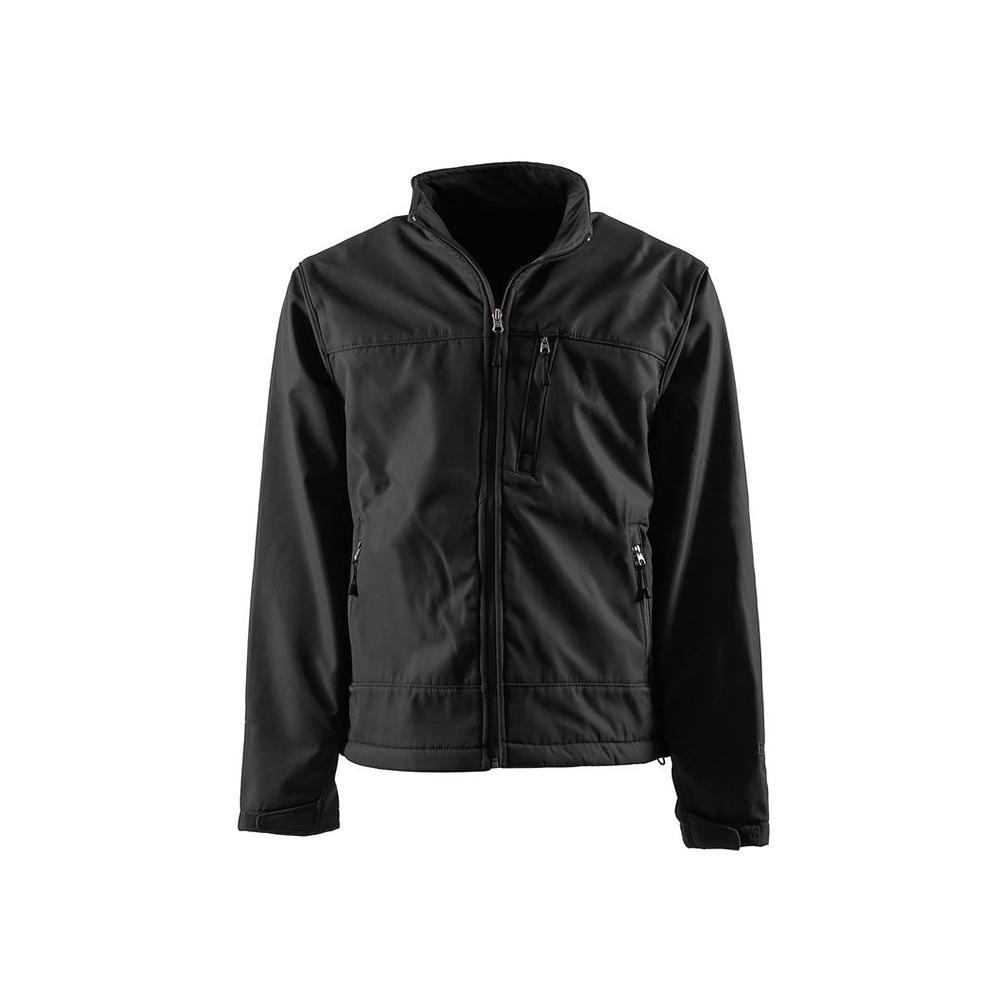 40f907370 Berne Men's Extra Large Black Polyester Eiger Softshell Jacket