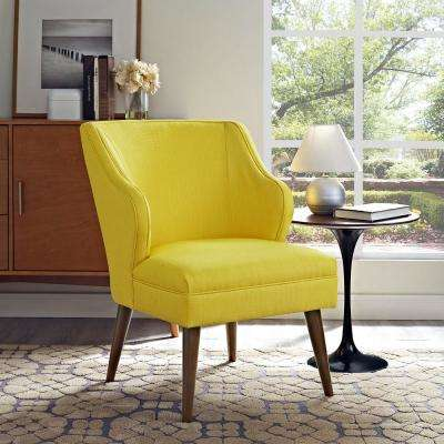 Gentil Swell Sunny Upholstered Fabric Armchair